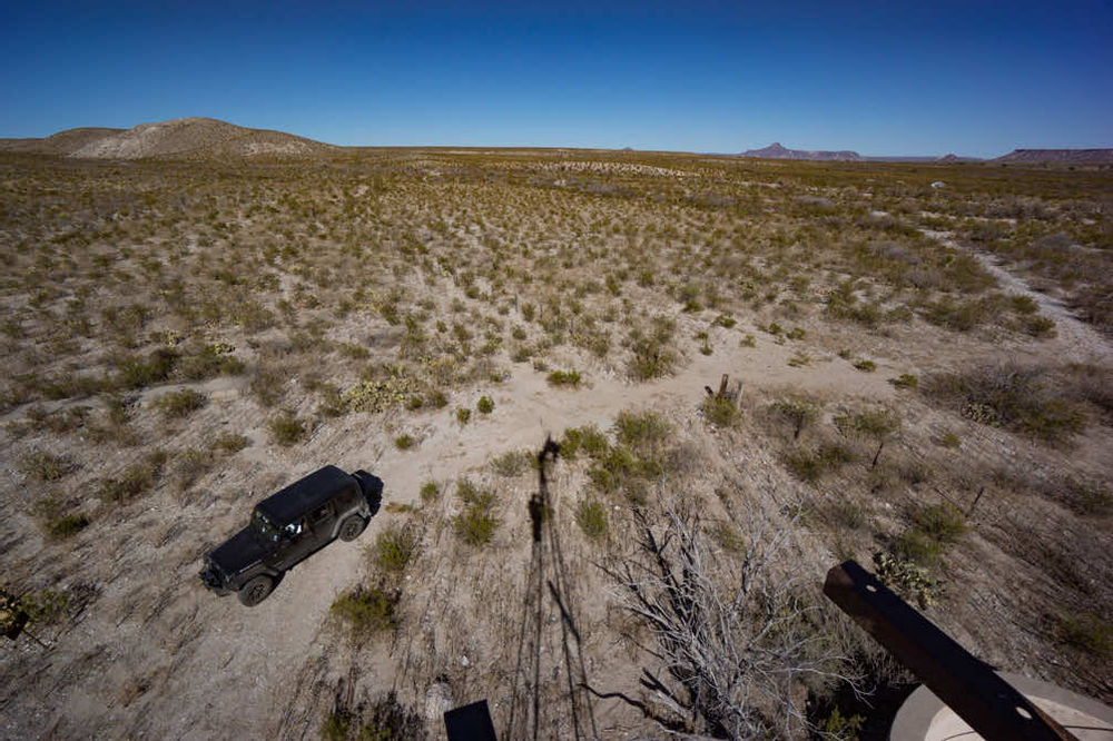 Aerial view of Big Bend Ranch State Park, not a drone.