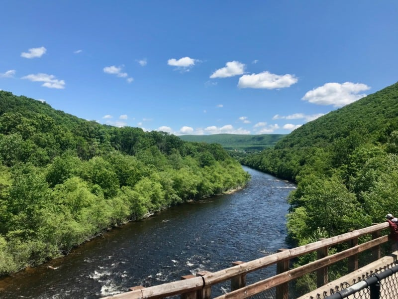 The Lehigh River from the scenic railroad