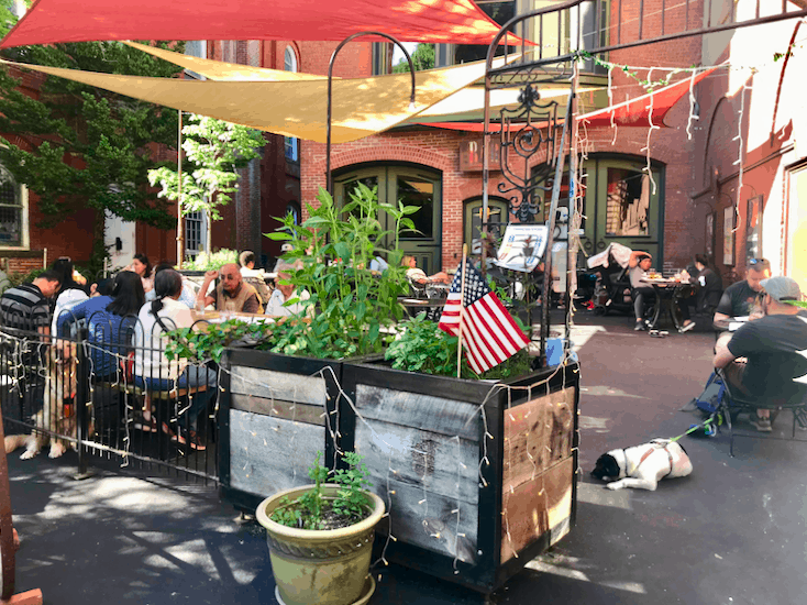 Courtyard for Dogs at Marion Hose Bar in Jim Thorpe, Pennsylvania
