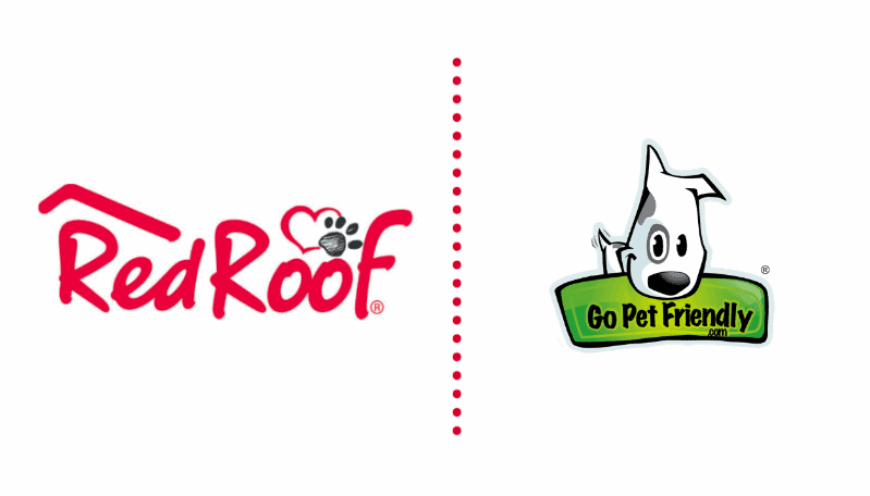 Red roofs and GoPetFriendly logos