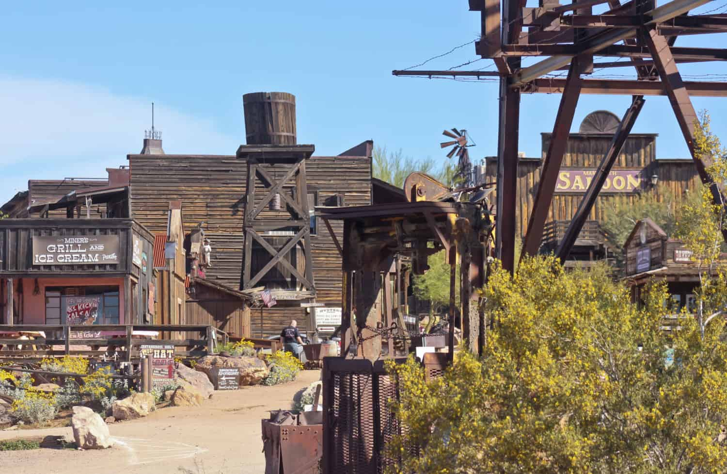The entrance to Goldfield Ghost Town in Apache Junction, Arizona